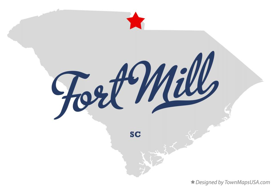 Map of Fort Mill South Carolina SC