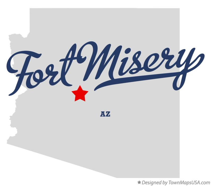 Map of Fort Misery Arizona AZ
