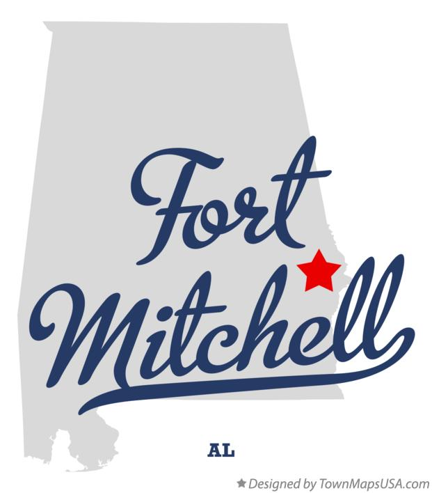 Map of Fort Mitchell Alabama AL