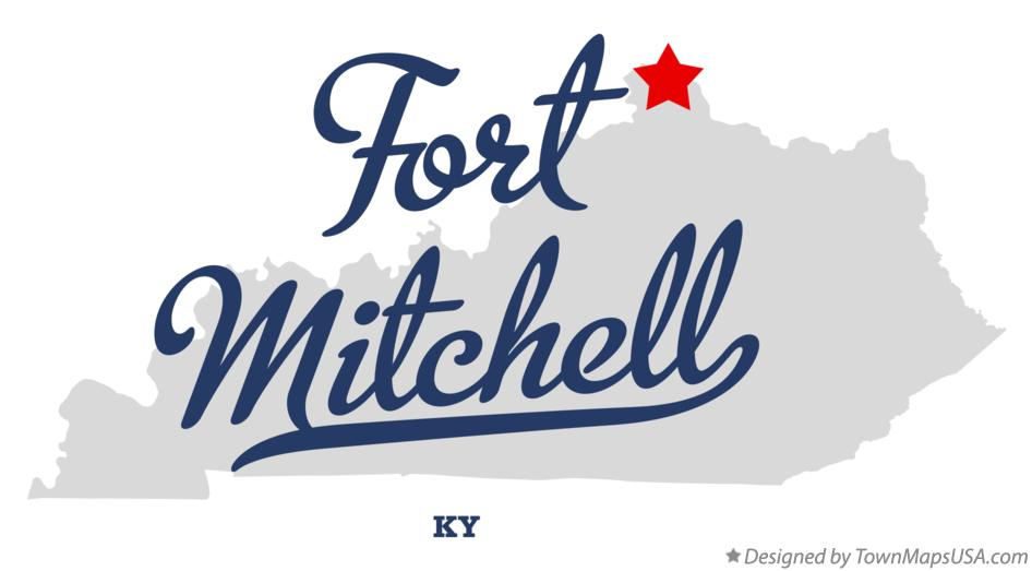 Map of Fort Mitchell Kentucky KY