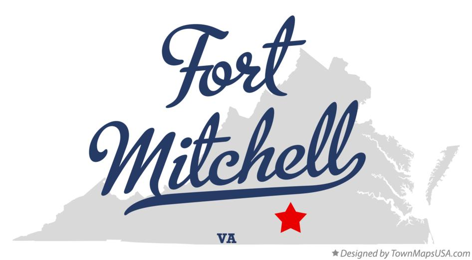 Map of Fort Mitchell Virginia VA
