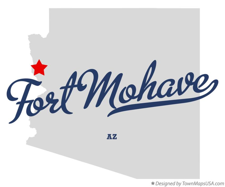 Map of Fort Mohave Arizona AZ