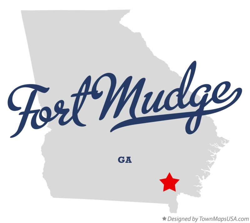 Map of Fort Mudge Georgia GA