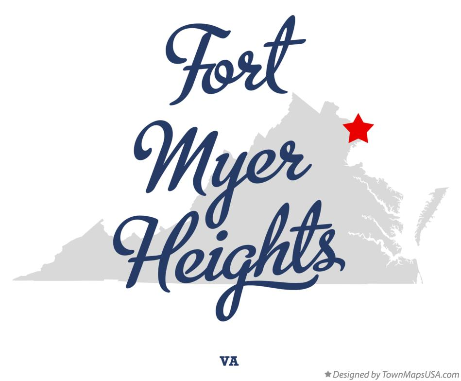 Map of Fort Myer Heights Virginia VA