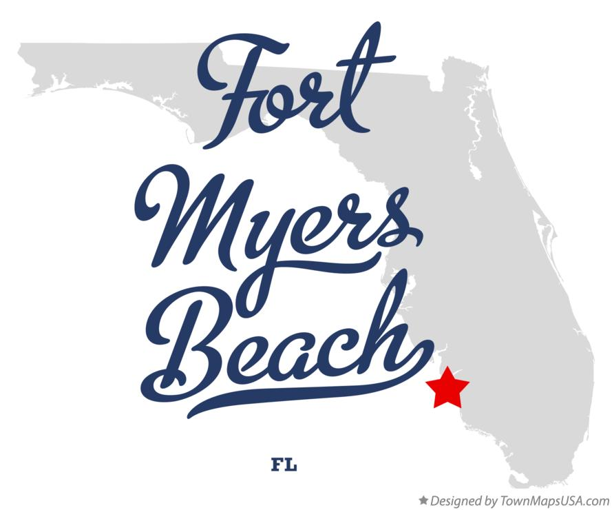 Map of Fort Myers Beach Florida FL