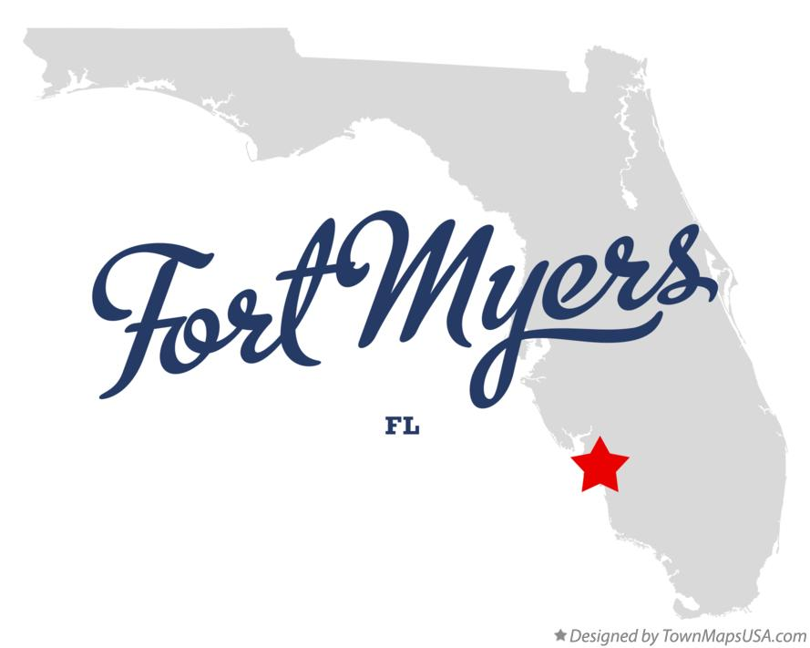 Map of Fort Myers FL Florida