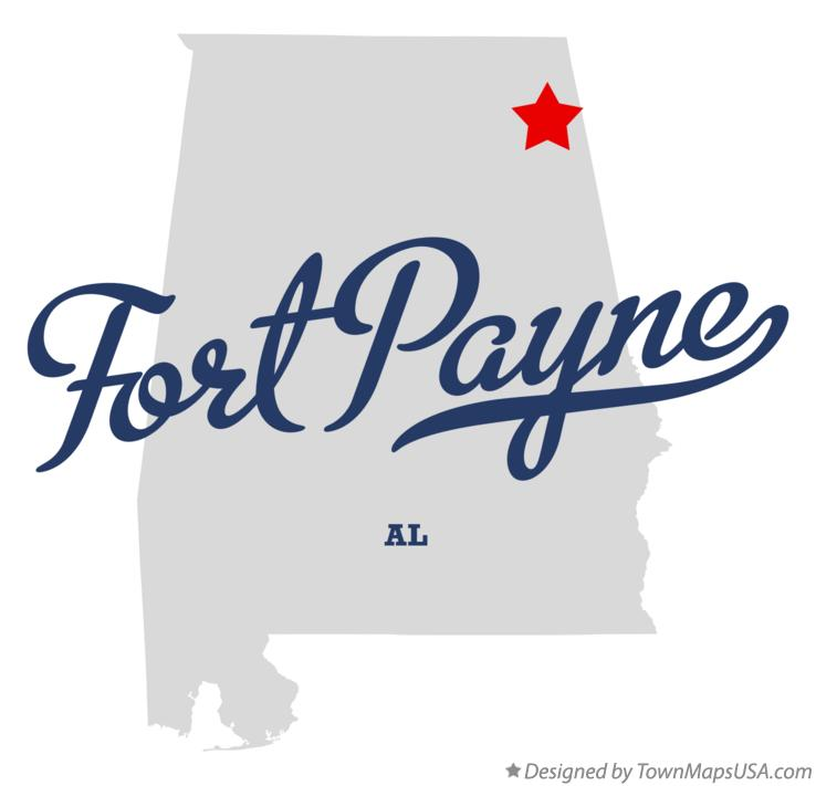 Map of Fort Payne Alabama AL