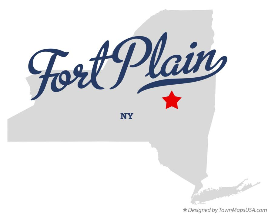 Map of Fort Plain New York NY