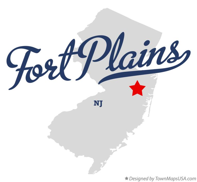 Map of Fort Plains New Jersey NJ