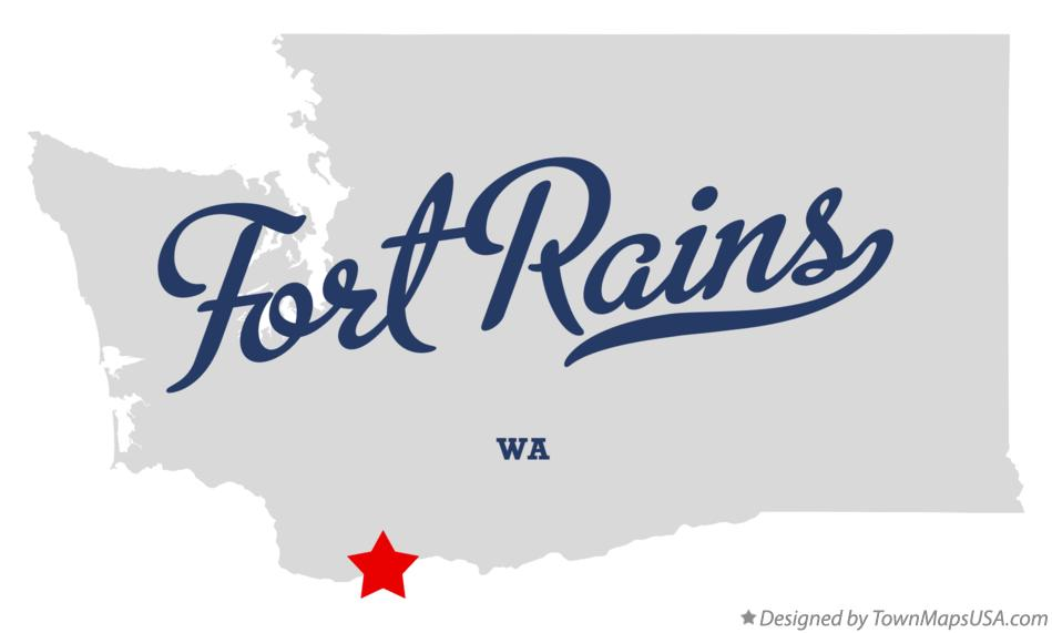 Map of Fort Rains Washington WA