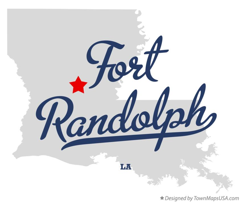 Map of Fort Randolph Louisiana LA