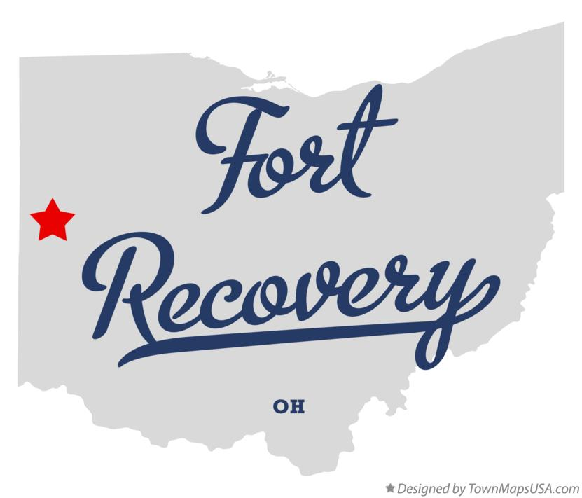 Map of Fort Recovery Ohio OH