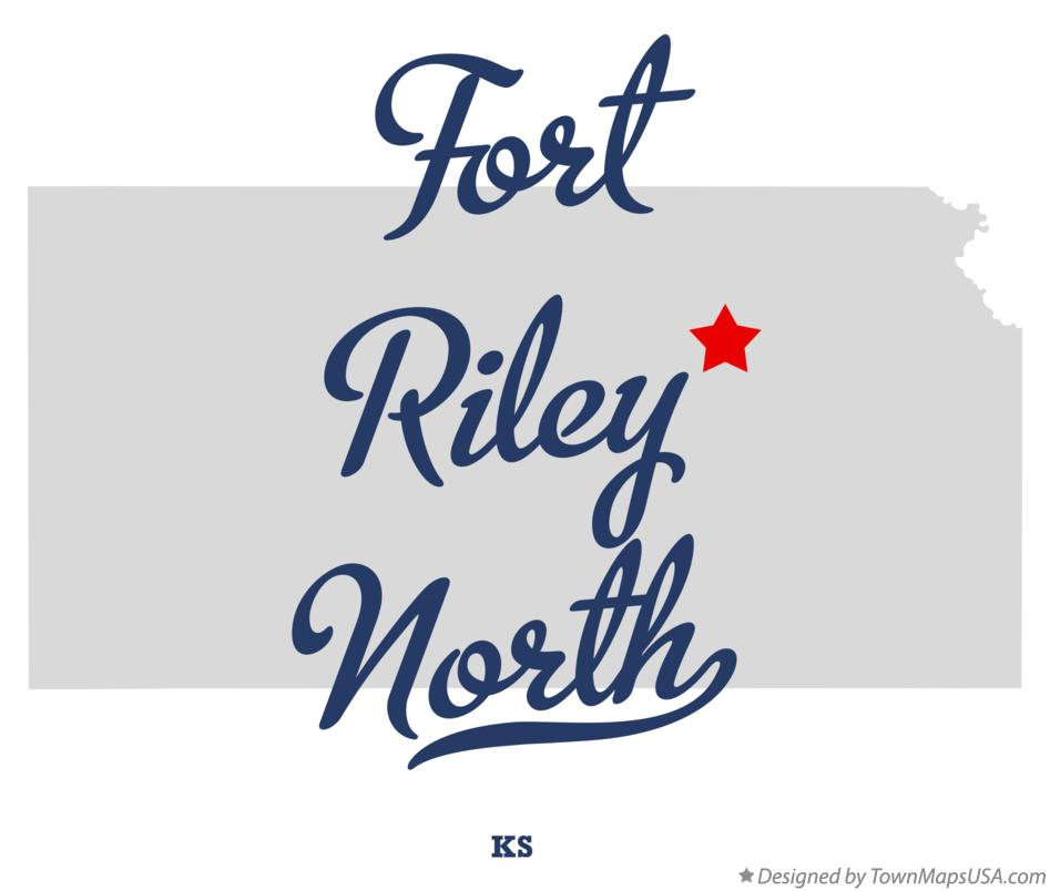 Map of Fort Riley North Kansas KS