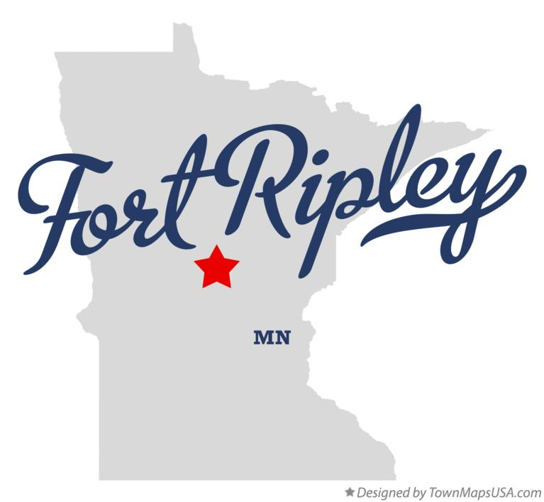 Map of Fort Ripley Minnesota MN