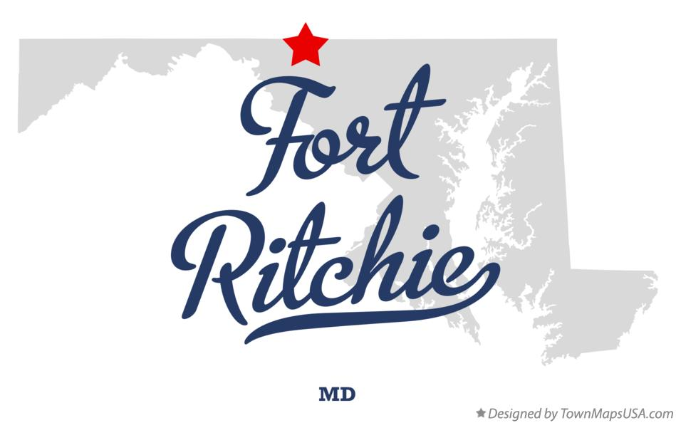 Map of Fort Ritchie Maryland MD
