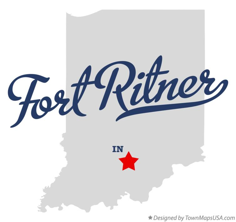 Map of Fort Ritner Indiana IN