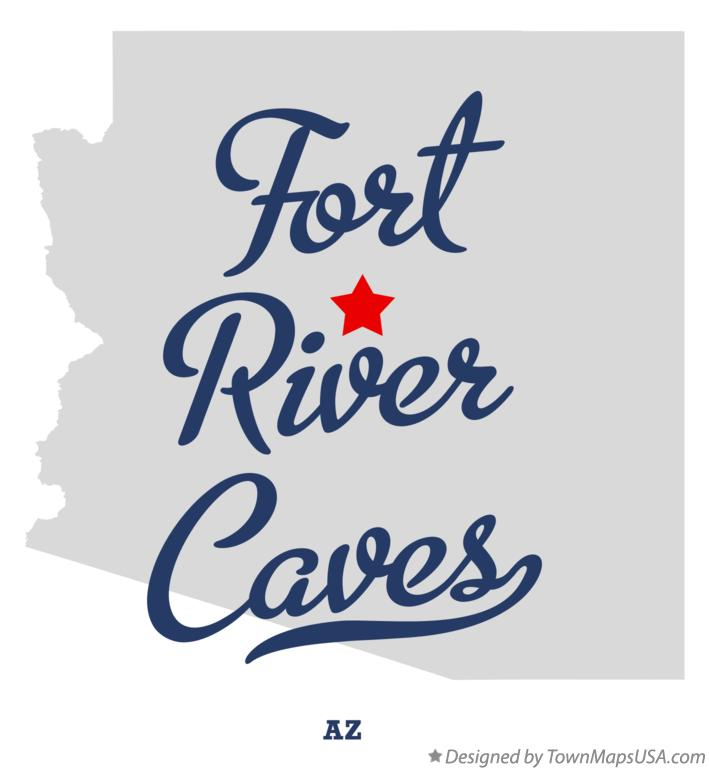Map of Fort River Caves Arizona AZ