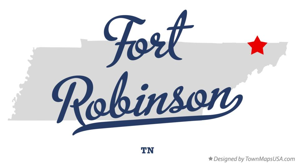 Map of Fort Robinson Tennessee TN