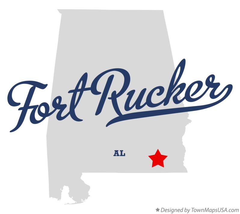 Map of Fort Rucker Alabama AL