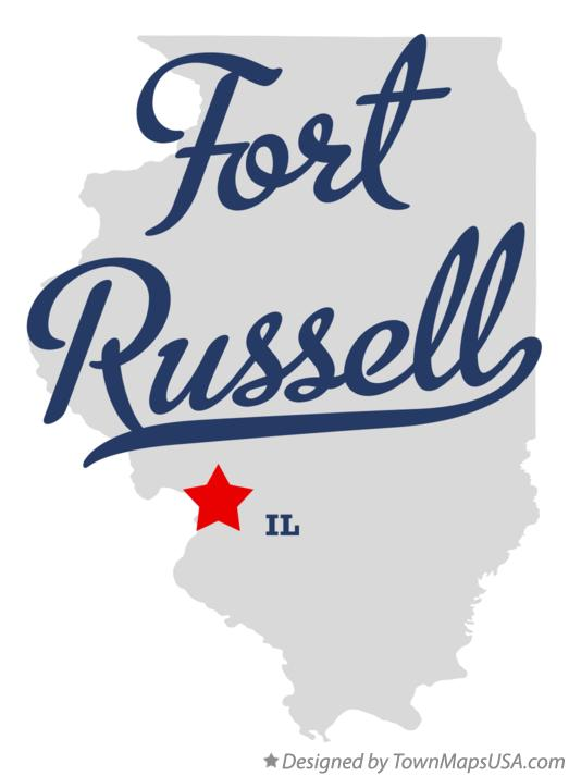 Map of Fort Russell Illinois IL