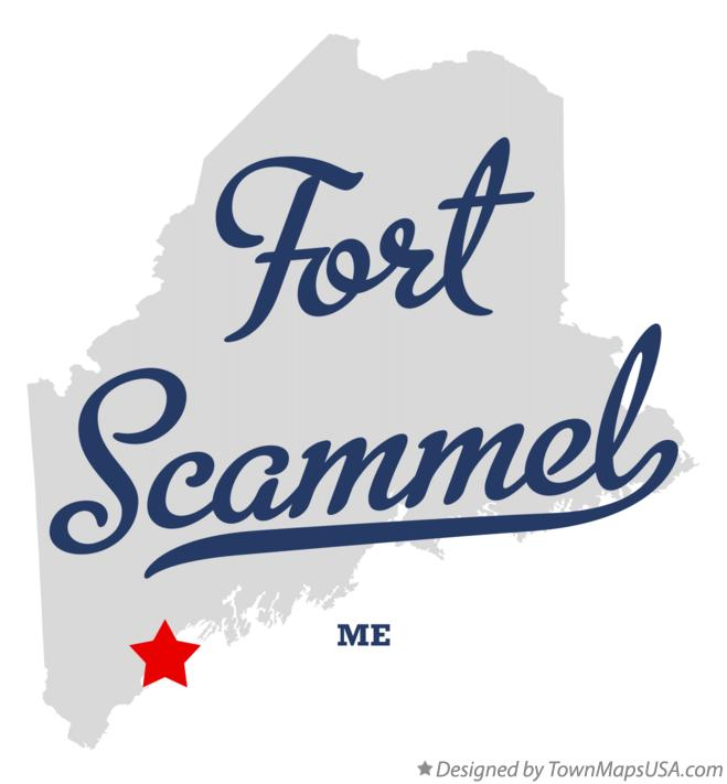 Map of Fort Scammel Maine ME