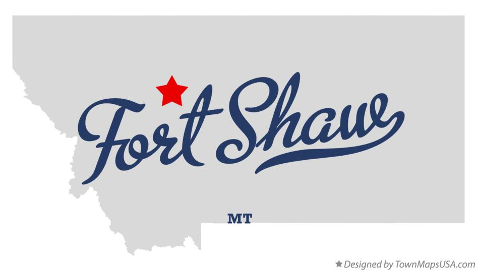 Map of Fort Shaw Montana MT