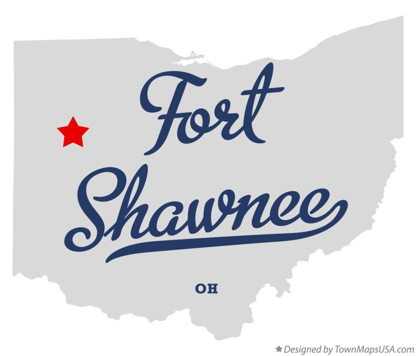 Map of Fort Shawnee Ohio OH