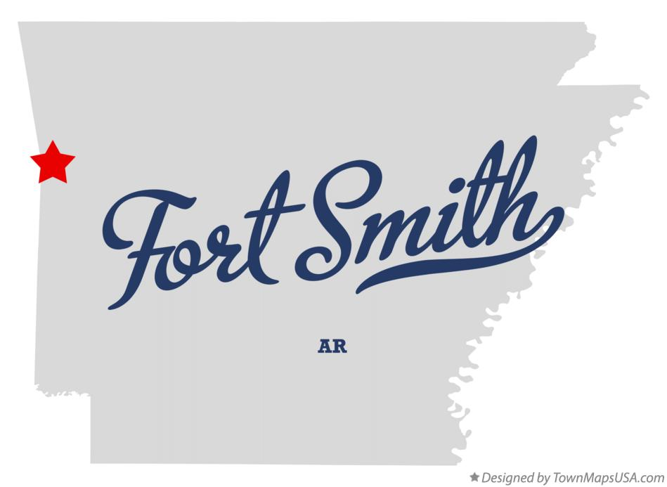 Map of Fort Smith Arkansas AR