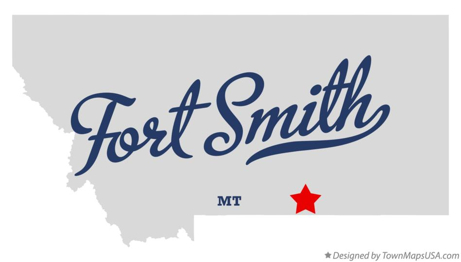 Map of Fort Smith Montana MT