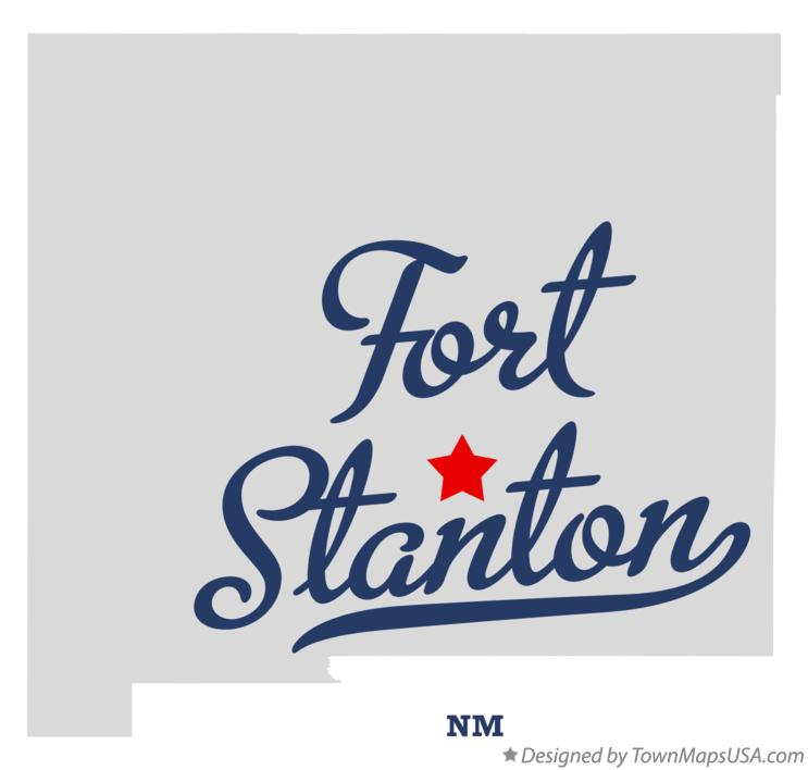 Map of Fort Stanton New Mexico NM