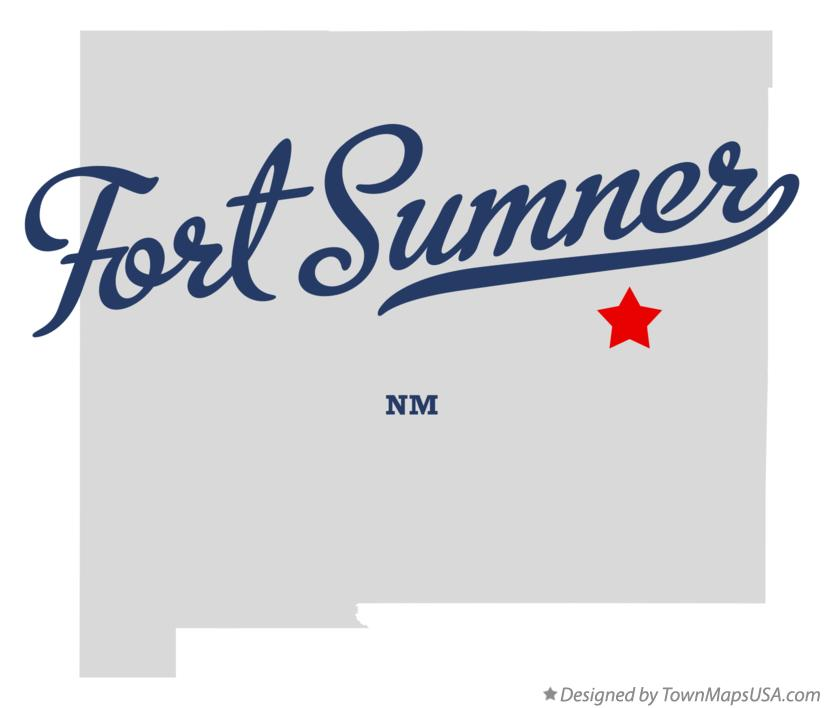 Map of Fort Sumner New Mexico NM