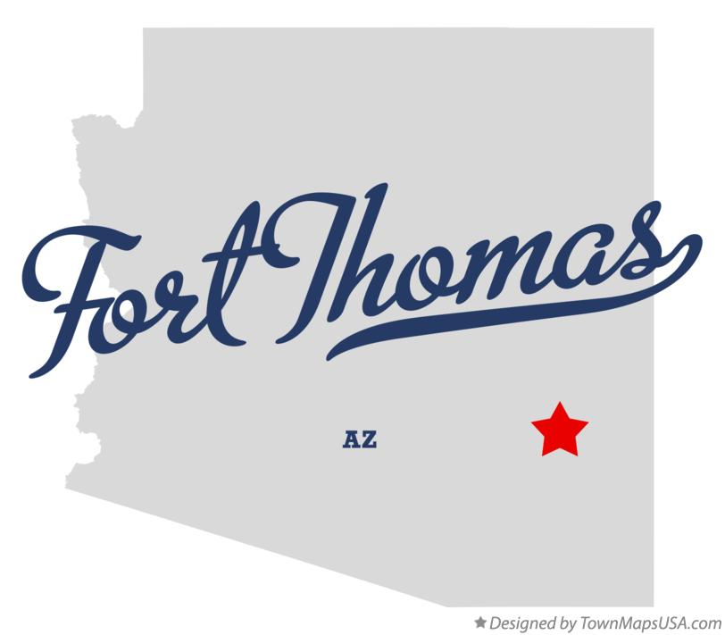Map of Fort Thomas Arizona AZ
