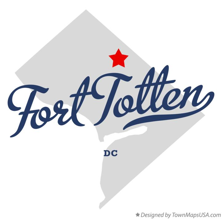 Map of Fort Totten District Of Columbia DC