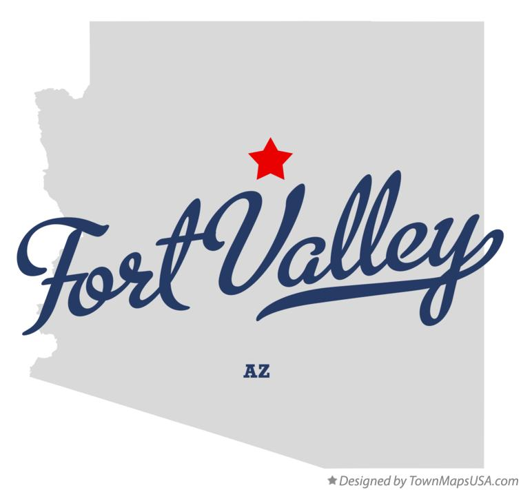 Map of Fort Valley Arizona AZ