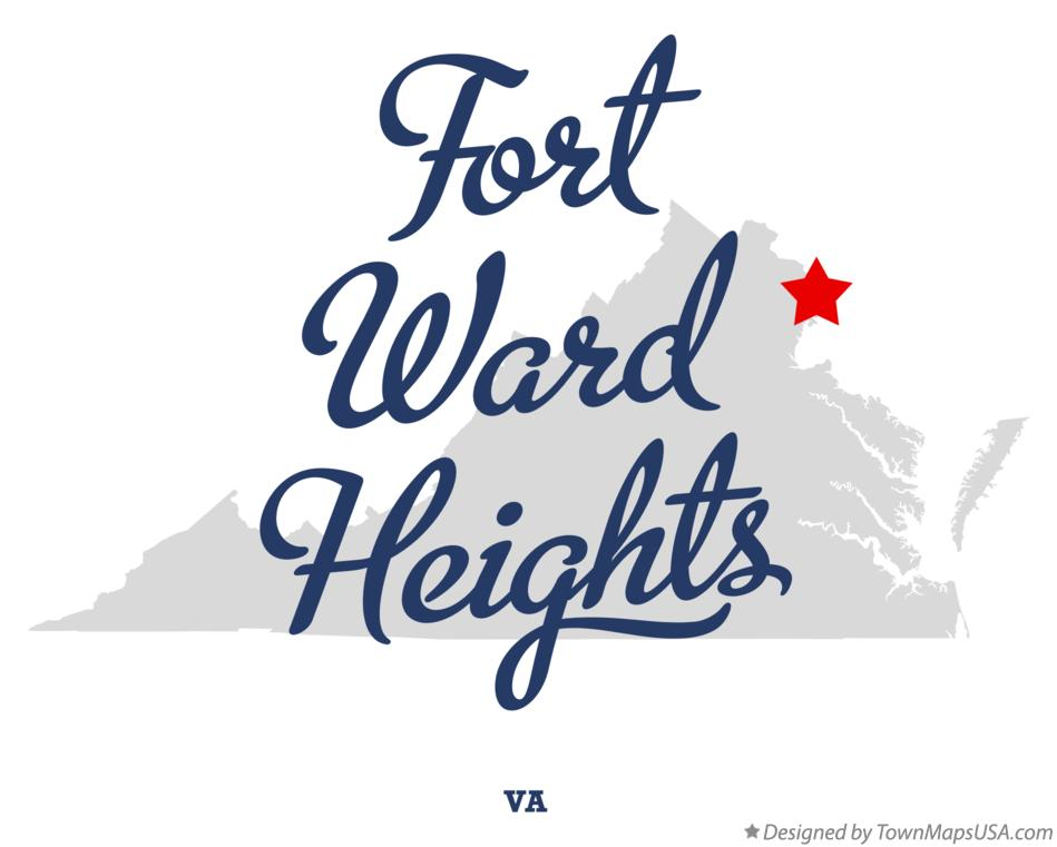 Map of Fort Ward Heights Virginia VA