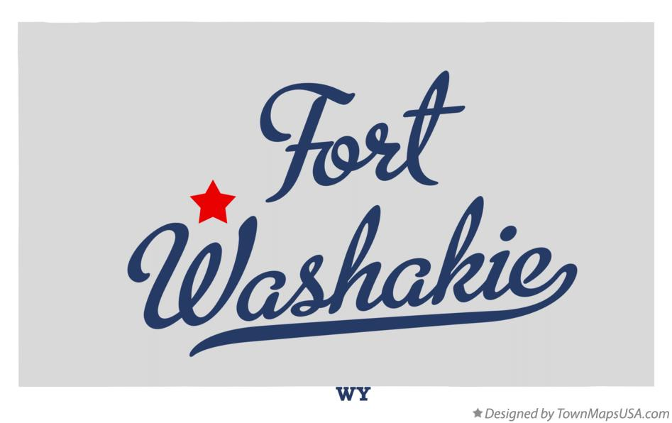 Map of Fort Washakie Wyoming WY