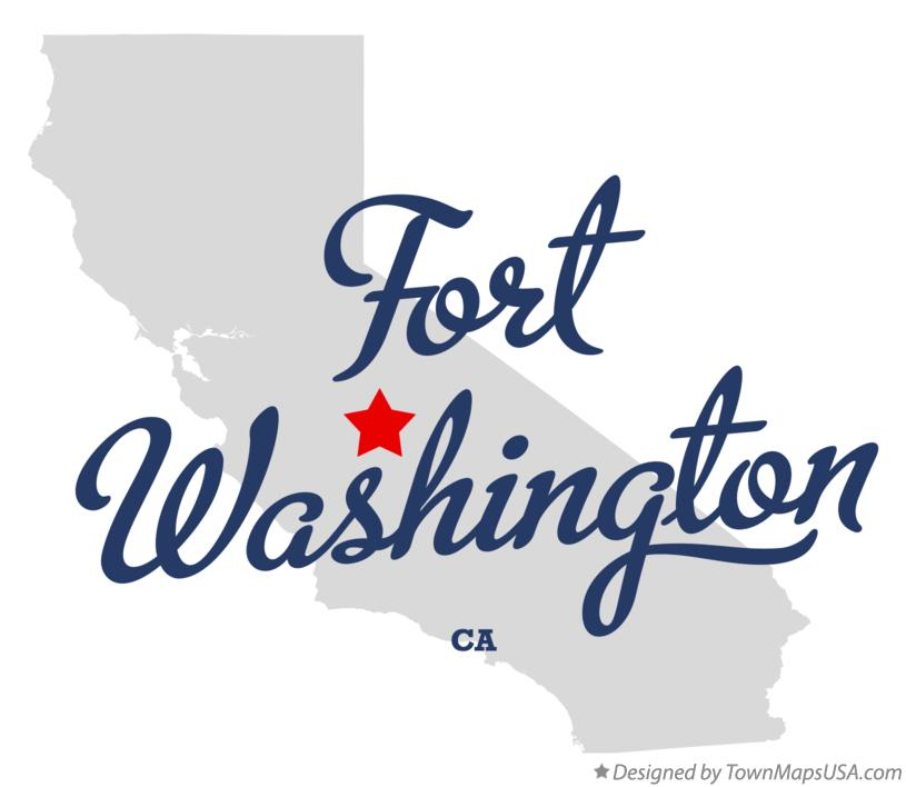 Map of Fort Washington California CA