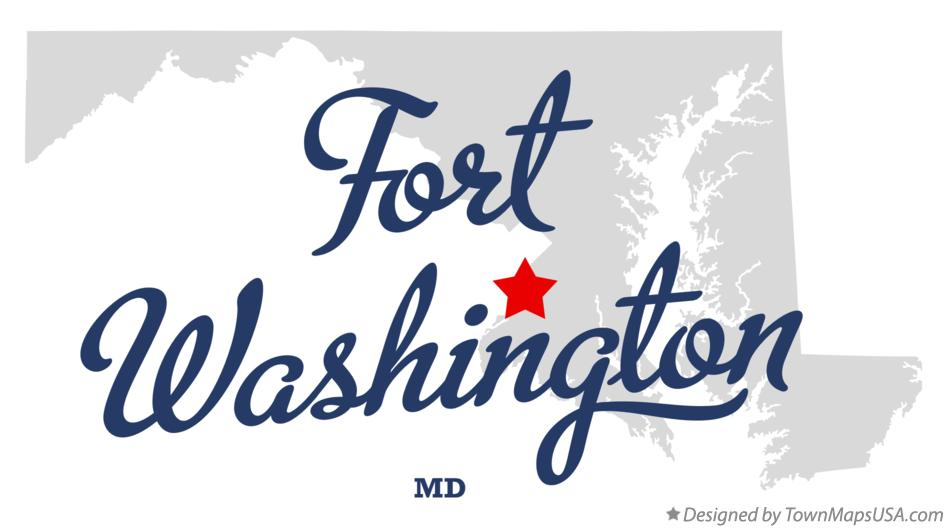 Map of Fort Washington Maryland MD