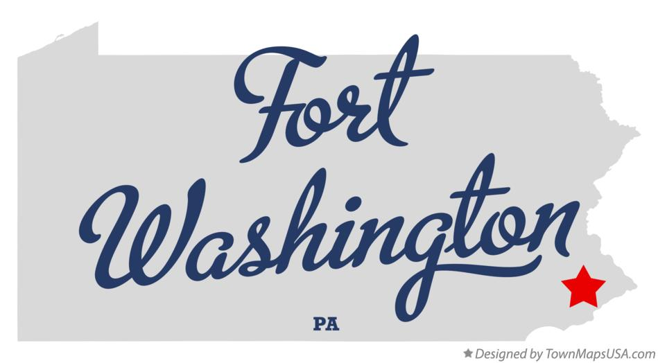 Map of Fort Washington Pennsylvania PA