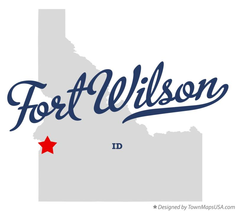 Map of Fort Wilson Idaho ID