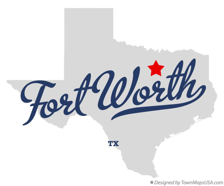 Map of Fort Worth, TX, Texas