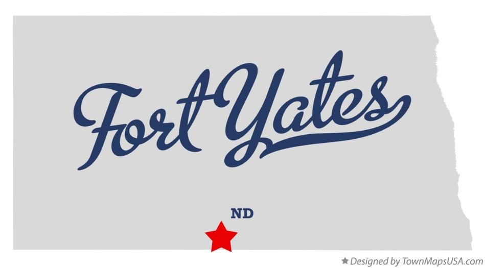 Map of Fort Yates North Dakota ND