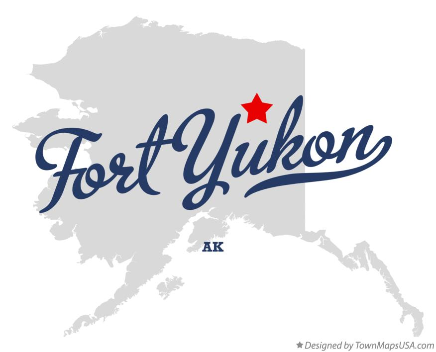 Map of Fort Yukon Alaska AK