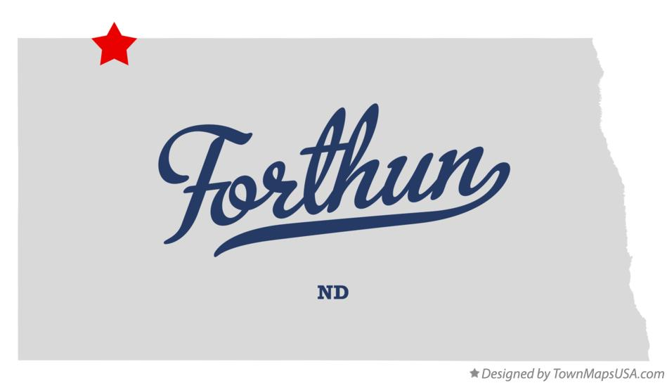 Map of Forthun North Dakota ND