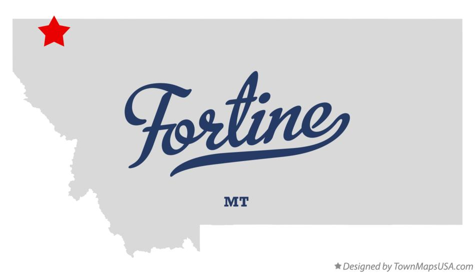 Map of Fortine Montana MT
