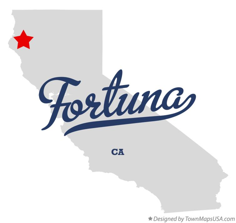 Map of Fortuna California CA