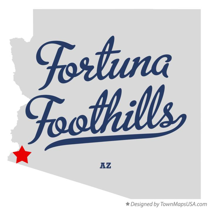 Map of Fortuna Foothills Arizona AZ