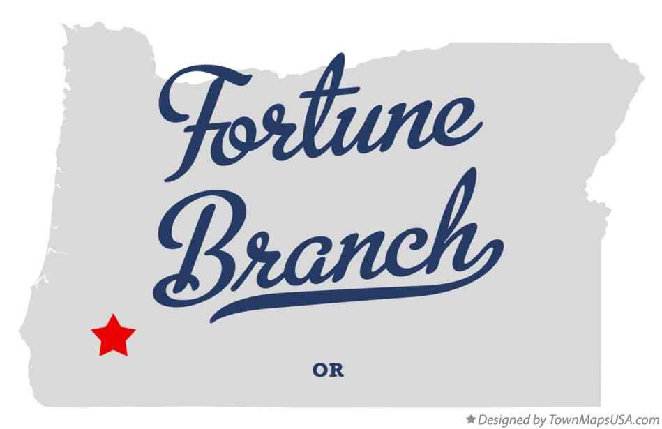 Map of Fortune Branch Oregon OR