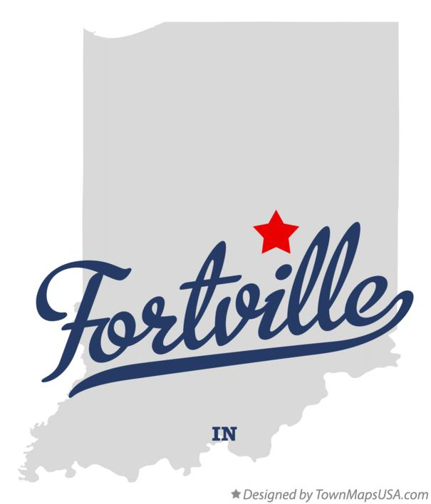 Map of Fortville Indiana IN