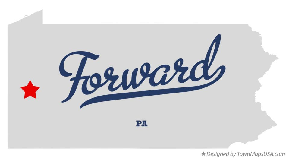 Map of Forward Pennsylvania PA
